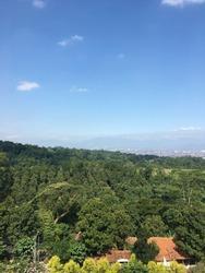 mountain view in Bandung city.