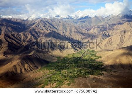 Mountain view of Leh Ladakh,India. - Shutterstock ID 675088942