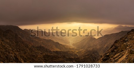 Mountain views around the Al-Hada resort city in western Saudi Arabia