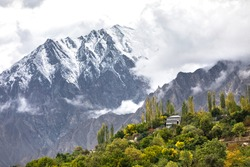 Mountain village in hunza river valley gilgit baltistan , Pakistan Northern areas