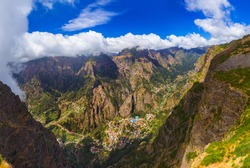 Mountain village in Madeira Portugal - travel background