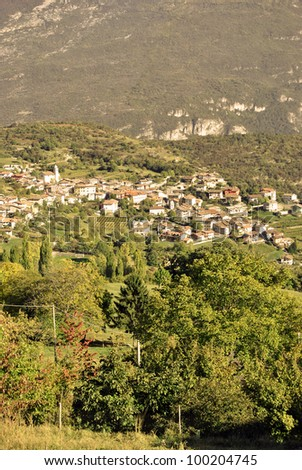 Mountain village in Trentino South Tyrol. Italy