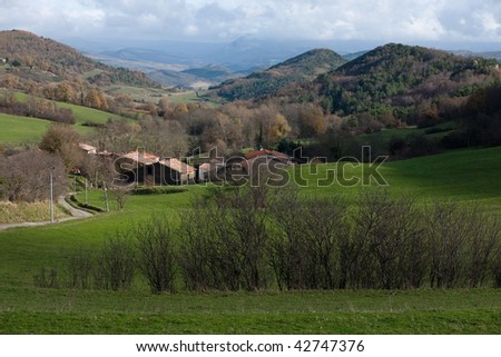 Mountain village landscape