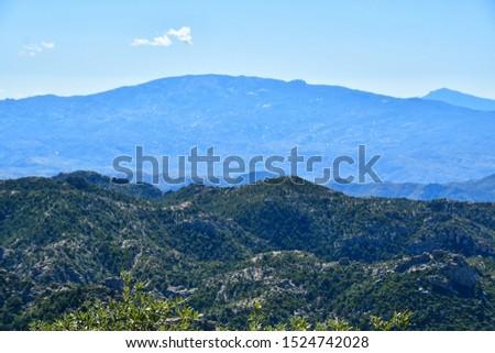 Mountain vista on the Mt Lemmon Scenic Byway just outside Tucson, Arizona. #1524742028