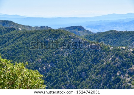 Mountain vista on the Mt Lemmon Scenic Byway just outside Tucson, Arizona. #1524742031