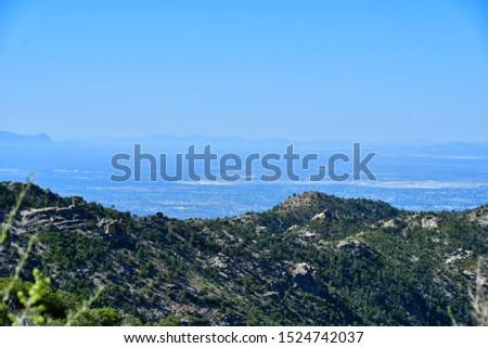 Mountain vista on the Mt Lemmon Scenic Byway just outside Tucson, Arizona. #1524742037