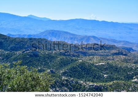 Mountain vista on the Mt Lemmon Scenic Byway just outside Tucson, Arizona. #1524742040