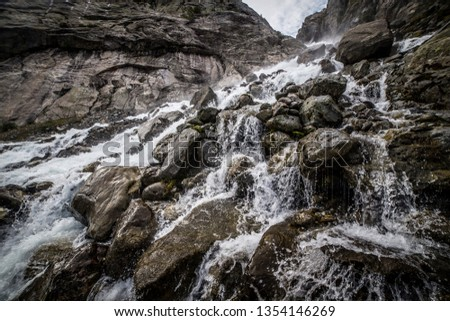 Mountain water stream from Buarbreen