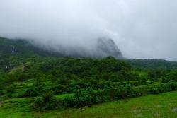 Mountain waterfall at western ghat Maharashtra India