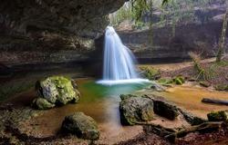 Mountain waterfall water stream landscape