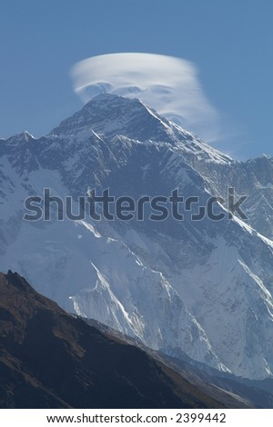 Mountain Wave Above Mount Everest