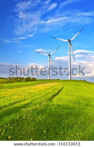 Mountain wind turbine