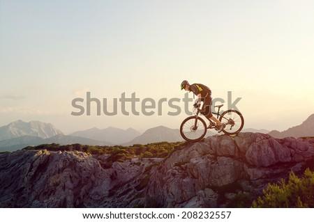 Mountainbiker - Shutterstock ID 208232557