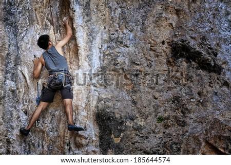 Mountaineer in railay Krabi, Thailand
