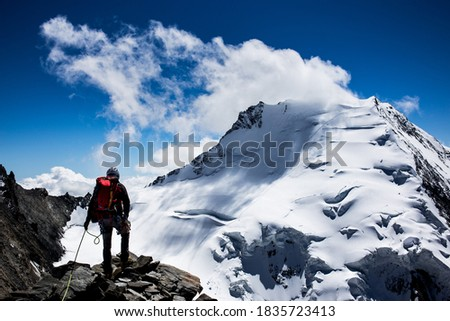 Photo of  Mountaineer in the swiss alps