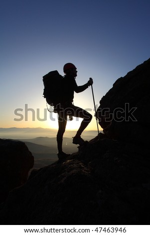 mountaineer silhouette