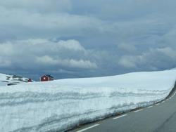 Mountainroad Aurlandsvegen between Aurland and Laerdal. National tourist route, Norway.