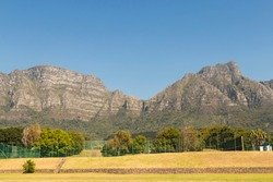 Mountains and blue sky, Tablemountain National Park, Cape Town, South Africa.