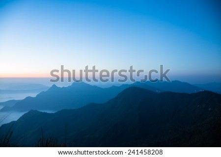 Mountains and fog before sunrise #241458208