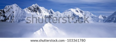 Mountains and glaciers in Wrangell-St. Elias National Part, Alaska