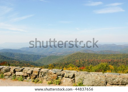 mountains and trees in fall