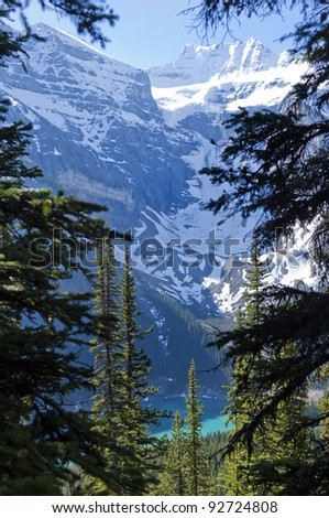 mountains around Lake Moraine,Banff National Park,Canada