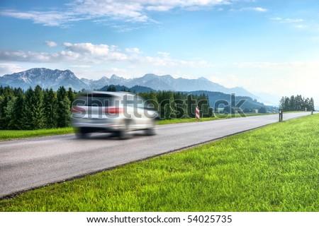 Mountains car travel.