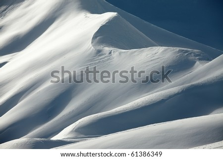 Mountains covered by snow