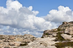 Mountains Formation of rocks and a summer sky