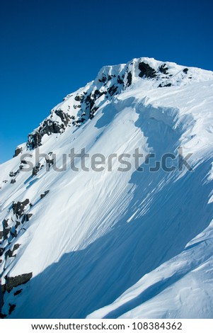 Mountains Hibiny at winter
