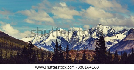 Mountains in Alaska, United States #380164168
