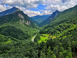 Mountains in Durmitor National Park, Tara River, Montenegro