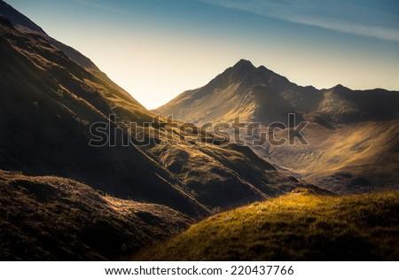 Mountains in Highland,Scotland