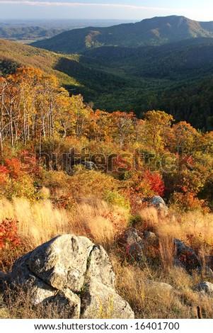 Mountains in Shenandoah National park