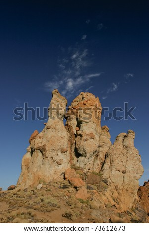 Mountains in Teide National Park, Canary Islands