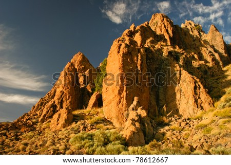 Mountains in Teide National Park,Tenerife,  Canary Islands