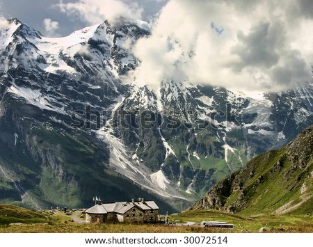 Mountains in the Austrian Alps near the Grossglockner