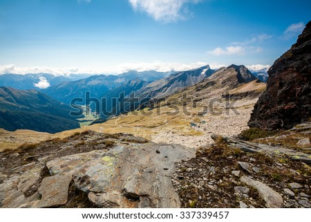 mountains in the national park Hohe Tauern in Alps in Austria. Backgrounds #337339457