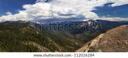 Mountains in the Sierra Nevada.