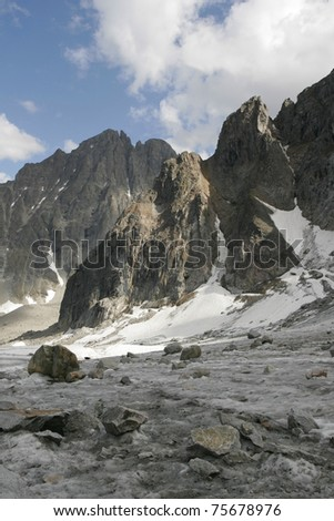 Mountains in the Transbaikalia. Russia