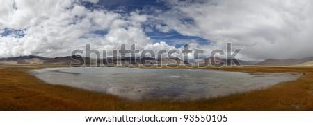 Mountains Lake. Ladakh, Himalayas, India