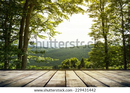 Mountains landscape. Beauty nature background