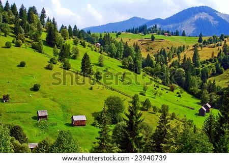 Mountains landscape from Bucovina, Romania