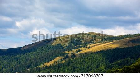 mountains landscape in ukrainian Carpathians #717068707