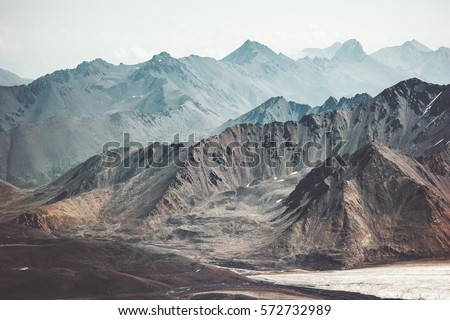 Mountains Landscape Travel aerial view serene scenery wild nature calm idyllic scene
