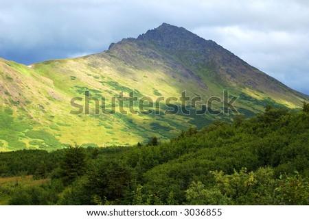 Mountains near Anchorage Alaska