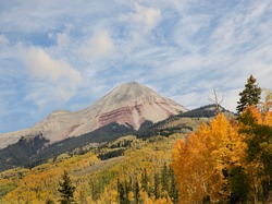 Mountains Near the Icefield Parkway on a Beautiful Fall Day