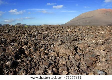 Mountains of fire,Timanfaya National Park on Lanzarote Island