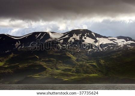 Mountains of Husavik area, Iceland
