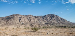Mountains on the Mexicali Valley in Baja California, MEXICO. Landscape on the road from Mexicali to Tecate.